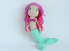 The little mermaid in my #Etsy shop. In stock now. There is only 1! #mermaid #thelittlemermaid #plush #doll #crochet #stuffed #dolls #mermaids #babe #baby #girl #dolly #under #the #sea #toys #toddler