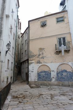 #Alcaçarias, painéis de azulejo# antigo Beco das Barrelas