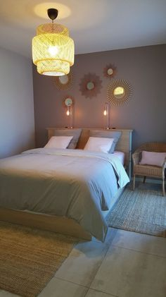 Blue Bedroom, Bedroom Wall, Bedroom Decor, Bedroom Cupboard Designs, Aesthetic Rooms, Minimalist Home, New Room, Bed Design, Interior Design Living Room