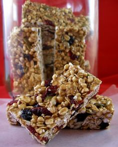 Puffed millet granola bars (subbed quinoa flakes for oats)
