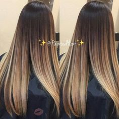 New makeup tutorials! Brown Ombre Hair, Brown Hair Balayage, Brown Blonde Hair, Ombre Hair Color, Hair Color Balayage, Hair Highlights, Cute Hair Colors, Gorgeous Hair Color, Balyage Long Hair