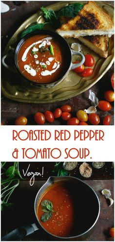 This looks like it might taste good , don't make it if people have been starving forever #addProtein (eggs + fish ) roasted red pepper and tomato soup