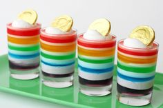 St. Patty's treat...Jell-O and chocolate covered coins required.