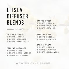 Diffuser Blends using Litsea Essential Oil Doterra Diffuser, Essential Oil Diffuser Blends, Essential Oil Uses, Doterra Essential Oils, Young Living Essential Oils, Diffuser Recipes, Beauty Care, Diy Beauty, Education