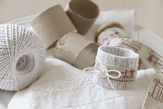 finde frugal: servilleteros reciclando el tubo de cartón del papel de cocina