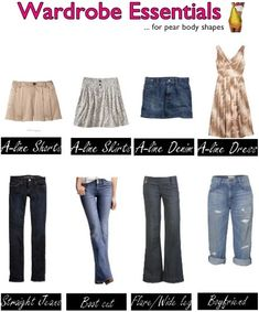 Wardrobe essentials for pear body shapes
