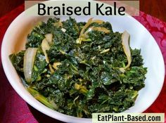 This is my favorite way to cook kale, so easy and delicious! Kale has as much calcium as milk, more vitamin C than an orange, is filled with antioxidants, and is a great anti-inflammatory food. GO KALE!