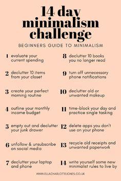14 day minimalism challenge, beginners guide to minimalism