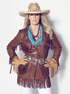 Alan Michael Elle Fringe Leather Jacket