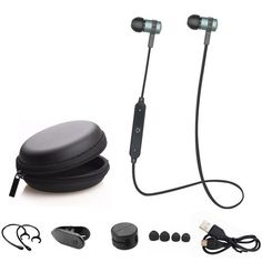 Aniwk Correr Deporte Bluetooth Wireless Headset Auriculares Auriculares Bluetooth Auriculares Estéreo Auricular Con Micrófono Para todos los teléfonos