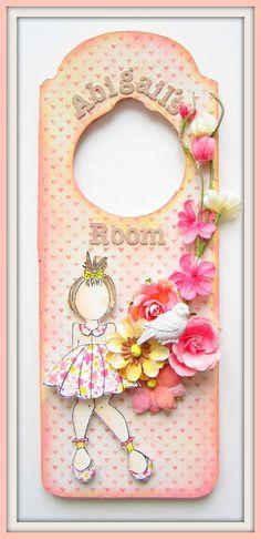 Abigail's room- Door hanger - Scrapbook.com