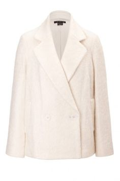 Theory Theory Kurzmantel aus Wolle und Mohair – Beige