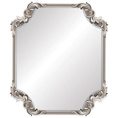 Ornate Antique 19-Inch x 22-Inch Wall Mirror in Silver - BedBathandBeyond.com