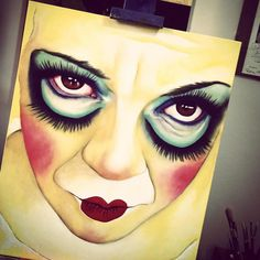 #DollSamantha #doll #cool #contemporaryart #workinprogress #Painting #Painter #Tuscany Monica Spicciani #Painter #Painting in #Tuscany #Italy #art #fineart #artist #studio #contemporaryart #portrait #italianpainter
