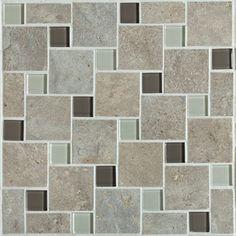 Mannington Accent Gallery Antiquity Weathered Stone Pinwheel Mosaic Porcelain Tile - AQ3PMM