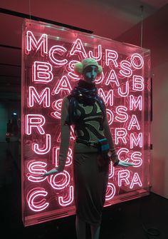 Neon Letters Window Display