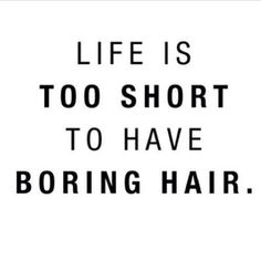 I wish my place of employment understood this so I could do things that I want with my hair!!!