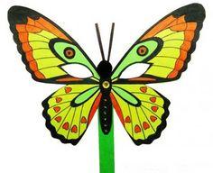 Шаблон маски бабочки на голову из бумаги: скачать и распечатать бесплатно
