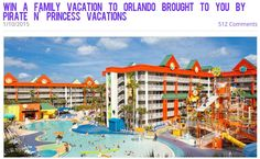 Enter to win a 6-day/5-night Orlando Family Vacation from Pirate n' Princess Vacations @pnpvacations http://bit.ly/15P4sIx