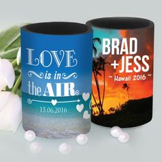 Full Colour Wrap Wedding Stubby Holders