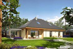 Astrid III G2 - projekt domu - Archipelag Bungalow House Plans, Bungalow House Design, Planer, Gazebo, Outdoor Structures, Cabin, House Styles, Outdoor Decor, Home Decor