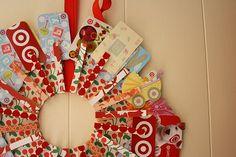 gift card wreath.