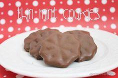 thin mint cookies!!!! 3 ingredients!