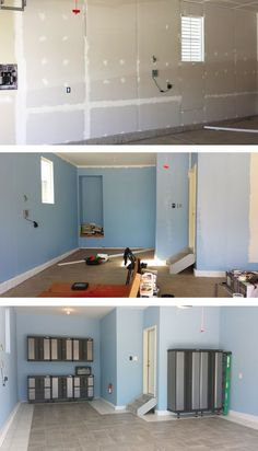 Within the past 10 years that negative view of the garage has actually changed significantly. Climatizing the garage has ended up being much more than an afterthought. Garage Renovation, Garage Interior, Garage Remodel, Garage Makeover, Interior Ideas, Interior Design, Garage Floor Paint, Garage Walls, Garage House