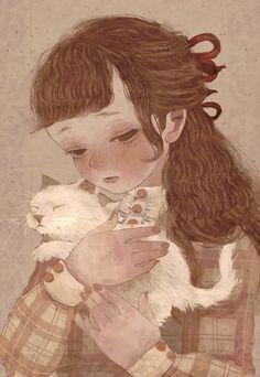 Pretty Art, Cute Art, Character Illustration, Illustration Art, Beautiful Fantasy Art, Anime Art Girl, Aesthetic Art, Asian Art, Cartoon Art