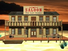 old west saloons Old West Saloon, Le Far West, Facade, Bbq, Mansions, House Styles, Curtains, Signs, Home Decor