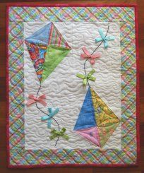scrappy picture #quilt of child flying a kit with his dog | Kid ... : kite quilt pattern - Adamdwight.com
