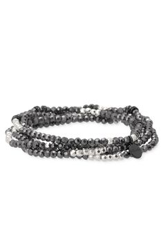 Faceted Glass & Metal Bead Stretch Bracelets | Stella & Dot | Stella & Dot www.stelladot/nadiawald