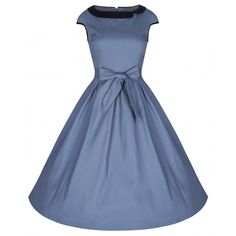 Chloe Powder Blue Swing Dress | Vintage Inspired Fashion - Lindy Bop