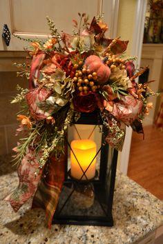 Beaded Pumpkin Lantern Swag by kristenscreations on Etsy