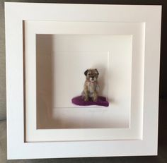 Meet 'PIckle' my sometimes stubborn and strong willed, small rough-coated terrier. Bred as fox and vermin hunters, with their long legs to. Felt Animals, Baby Animals, Cute Animals, Poochon Dog, Felt Wall Hanging, Felted Soap, Felt Dogs, Wool Art, Border Terrier
