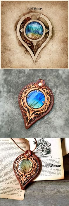 look at that beautiful labrodite stone. gorgeous work: