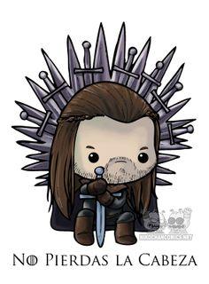 """Ya está disponible la camiseta de Ned Stark """"no pierdas la cabeza"""", siempre en nuestro estilo kawaii para darle ese toque original y divertido."""