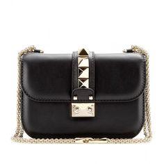 Valentino Lock Leather Shoulder Bag found on Polyvore