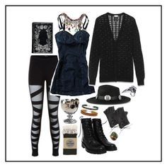 """""""Untitled #439"""" by goth-proxy ❤ liked on Polyvore featuring Yves Saint Laurent, BYRON, Ann Demeulemeester, Trashy Diva, Topshop, Wet Seal, darkmori, gothgoth and strega"""