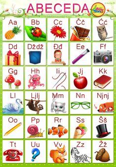 Preschool Education, Toddler Learning Activities, Phonics Activities, Language Activities, Kindergarten Phonics, Preschool Projects, Croatian Language, Family Symbol, Alphabet Templates