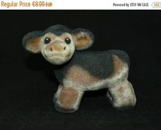 SALE -20% Cute soft foamy vintage cow from Soviet era - made in USSR (Estonia) - Soviet toy -  Russian toy cow calf plushy nursery decor by BuratinoToys on Etsy