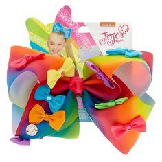 bows at claires Jojo Siwa Hair, Jojo Siwa Bows, Jojo Hair Bows, Jojo Bows, Rainbow Bow, Rainbow Hair, Rainbow Colors, Jojo Siwa Outfits, Jojo Siwa Birthday
