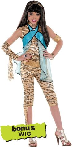 Girls Monster High Cleo de Nile Costume - Party City)i would ROCK this outfit