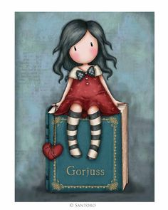 Gorjuss Cards - My Story at Santoro London. Send your own personalised message in our Gorjuss card, featuring the enthralling 'My Story' artwork. Illustration Mignonne, Cute Illustration, Cute Images, Cute Pictures, Cute Girls, Little Girls, Decoupage, Art Mignon, Santoro London