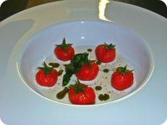 parmigiano reggiano gnocchi di pomodoro con crema di burrata e olio al basilico dello chef
