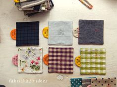practical sewing - fabrickaz+idees, square coasters
