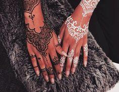 Black and White Henna Hand