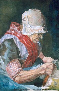 The Athenaeum - Doing needle work (Leo Gestel - ) House Painter, School Painting, Antique Pictures, Piet Mondrian, Dutch Painters, Sewing Art, Dutch Artists, Drawing Lessons, Cubism