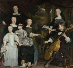 Abraham van den Tempel, David Leeuw with his family, 1671 - Rijksmuseum Amsterdam