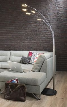 Floor lamp Camo with LED lighting and touch dimmer!